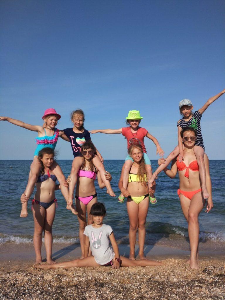 детский лагерь на море  летом